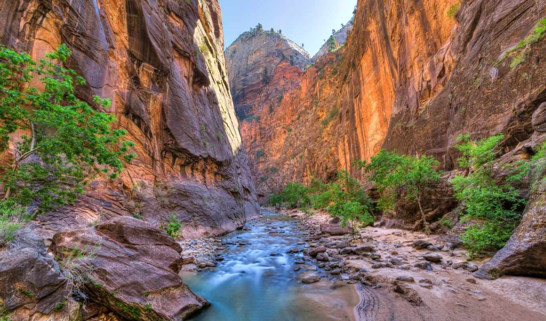 каньон, usa, юта, горы, природы, park, ущелье, national, скалы, июня,