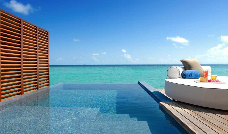 maldives, остров, fesdu, бассейн, мальдивах, ocean, resort, hotel, спа,
