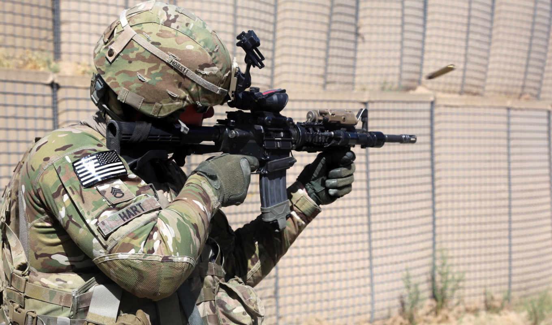 армия, states, united, оружие, солдат,