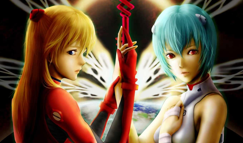 neon, genesis, evangelion, аниме, download,