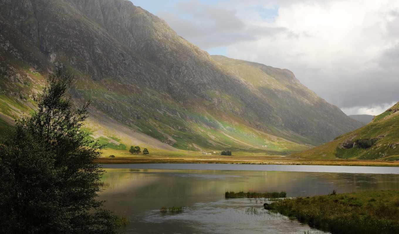 природа, шотландия, великобритания, highland, горы,