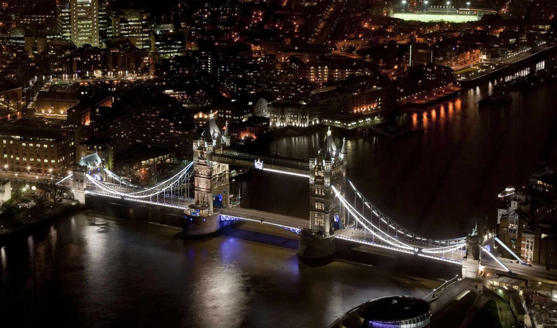 london, англия, мост, башня, тауэрский,
