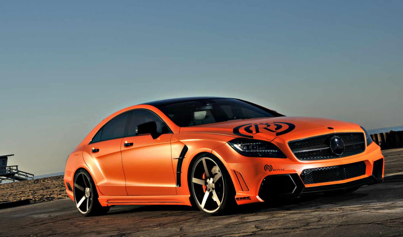 мерседес, mercedes, машины, cls, benz, авто, автомобили, оранжевый, amg, royal,