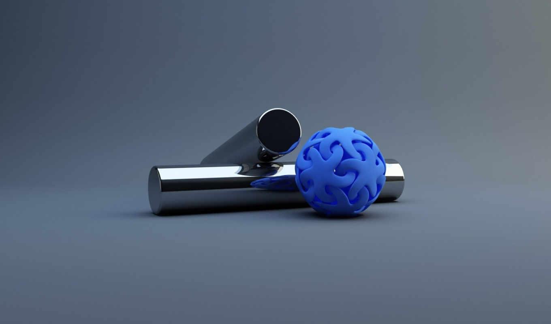 цилиндры, синий, шар, картинка, альбом,
