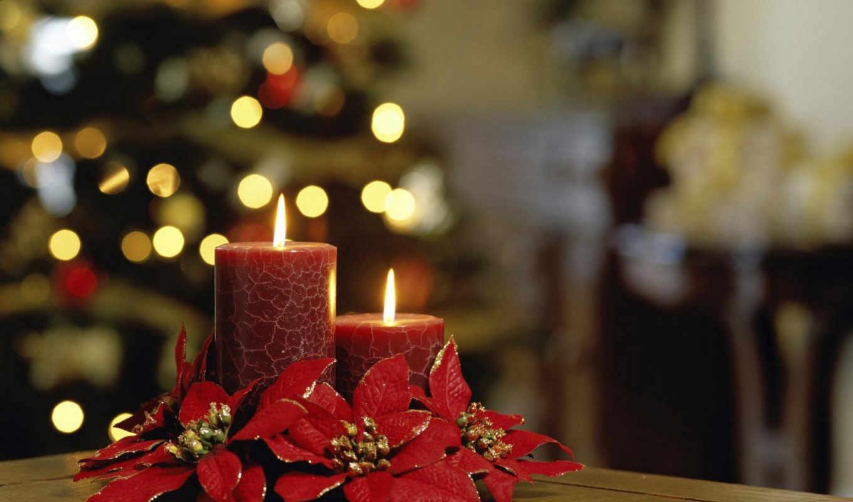 год, новый, christmas, свечи, рождественские, candles, праздник, праздники, изображение, две, красивые,