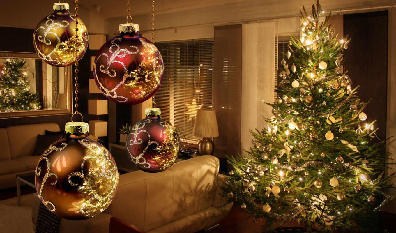 год, new, праздники, christmas, истинном, обою, дерево, размере, смотреть,
