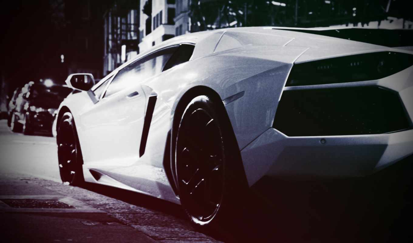 lamborghini, aventador, ламборгини, white, monster,