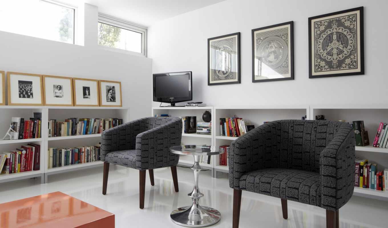 color, интерьере, white, серый, февр, мебель, интерьера, картины,