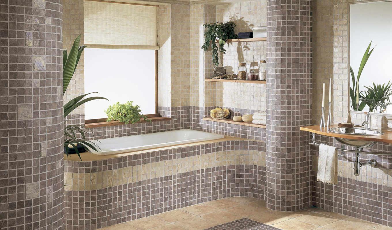 ванной, комнаты, design, интерьер, ванная, янв,