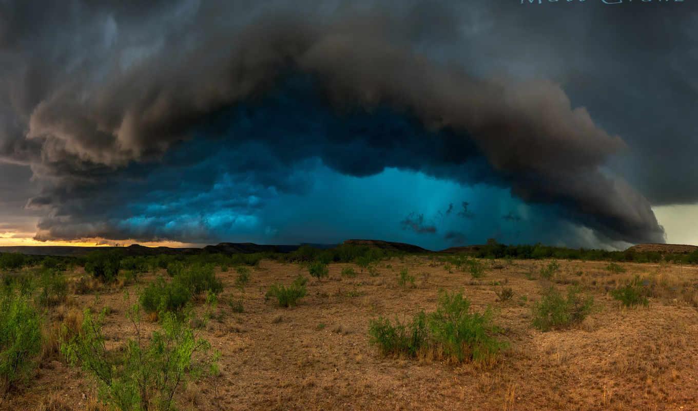 буря, texas, usa, пустыня, тучи, сша, clouds, погода,