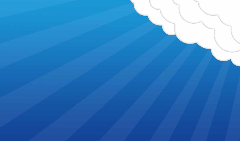 небо, минимализм, настроение, облака,