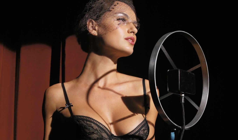 белье, грудь, lingerie, кабаре, микрофон, sexy, girls, valisere, черное белье, hot, девушки,