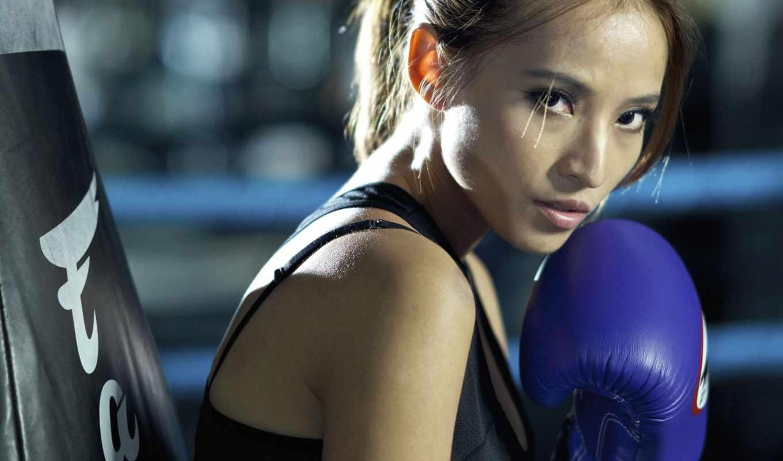 спорт, бокс, девушка,