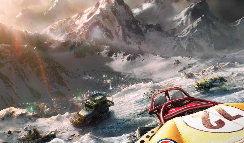 motorstorm, digital, art, снег, игры, race, коллекция,