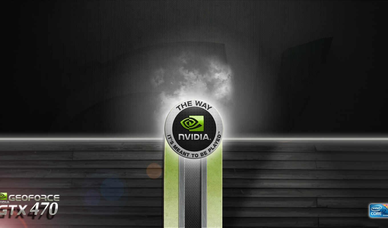 nvidia, gtx, лого, металл