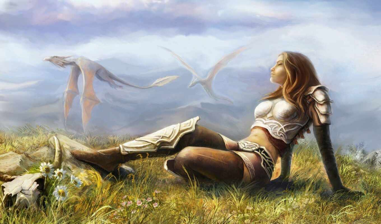 fentezti, идея, девушка, many, смотреть, графика, воин, настроение, тематика, который, art