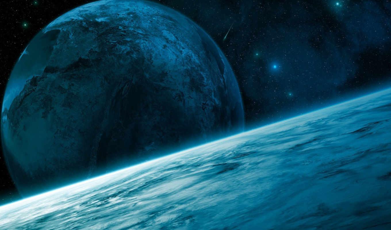 космос, арт, звезды, поверхность, добавил, планеты, кратер, балла,