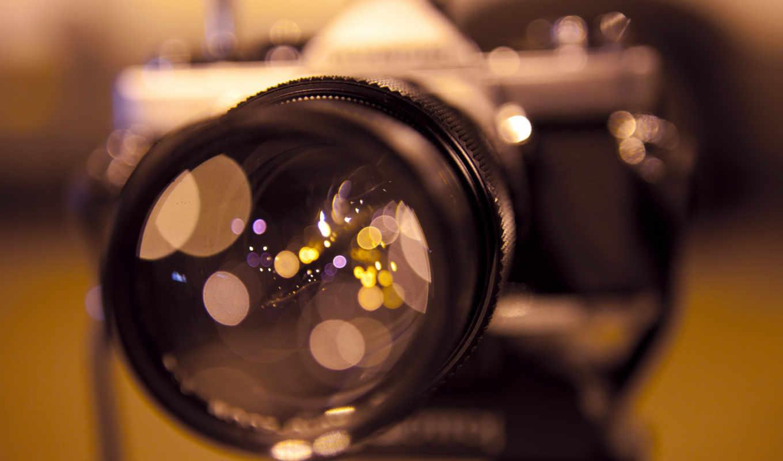 фотоаппарат, объектив, отражение, нов, focus,