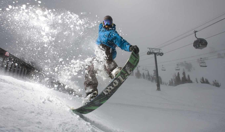 сноуборд, снег, snowboarding, горы,