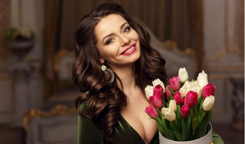 тюльпан, поздравление, счастье, single, женщина, женский, oir