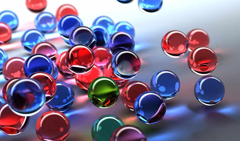 шарики, цветные, desktop, glass, free, рендеринг, цвет,