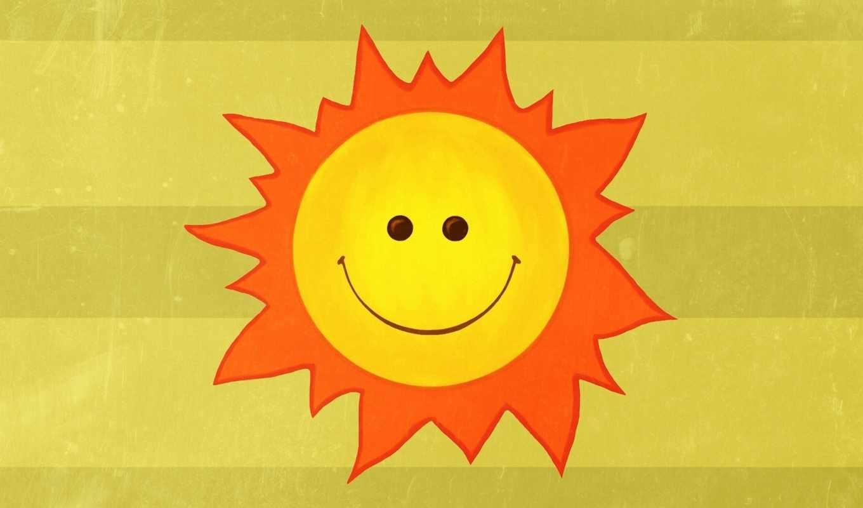 улыбка, солнце, настроение, лучи, радость, минимализм, рисунок, картинка,