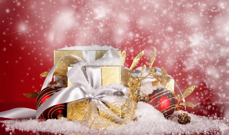 год, новый, праздник, рождество, шарики, подарок,