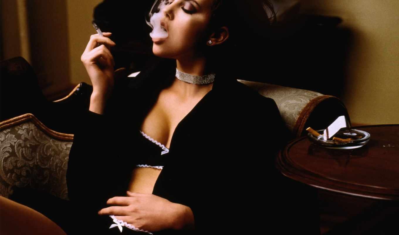 сигаретой, девушка, девушки,