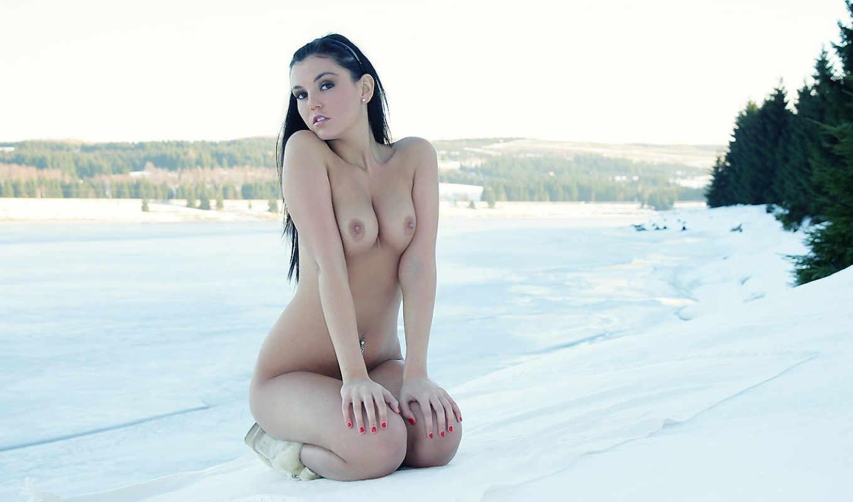сладкое, lady, gallery, снег, девушка, белом, erogirls, голые, изображение, эротические, снегу,