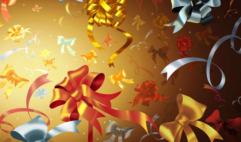 bounds, christmas, разное, bows, picsfab, банты, tree, pictures, desktop, яркий, графика, рисунок,