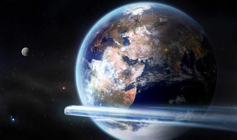space, earth, universe, комета, planets, art, www, digital, dark, cosmos, stars, meteorite, full,