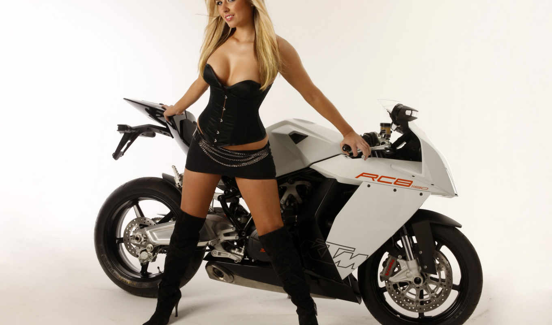 девушка, мотоцикл, мото, спортбайк, blonde, ktm, нояб,