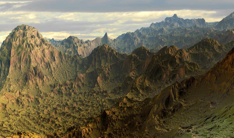 гора, abyss, день, фон, оригинал, долина, совершенн, комментарий