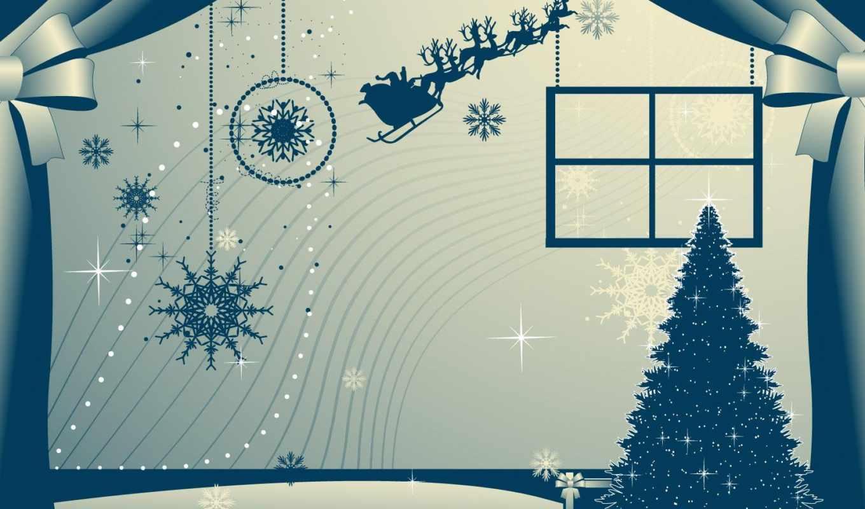 christmas, новый, год, снежинки, занавески, праздники, новогодние, гномики,