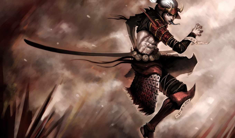 quilaquil, kirk, мечь, самурай,