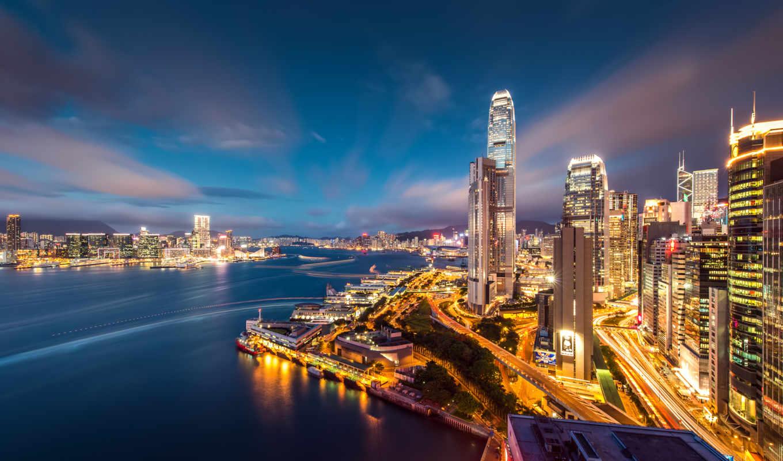 гонконг, hong, kong, здания, города, hotel, всех, фоны, мегаполис,