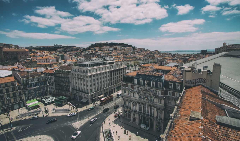 lisbon, португалия, фон, building