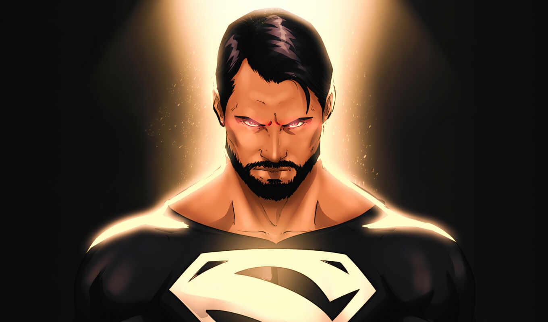 superman, масть, black, comics, sny, cut, супергерой, justice, league