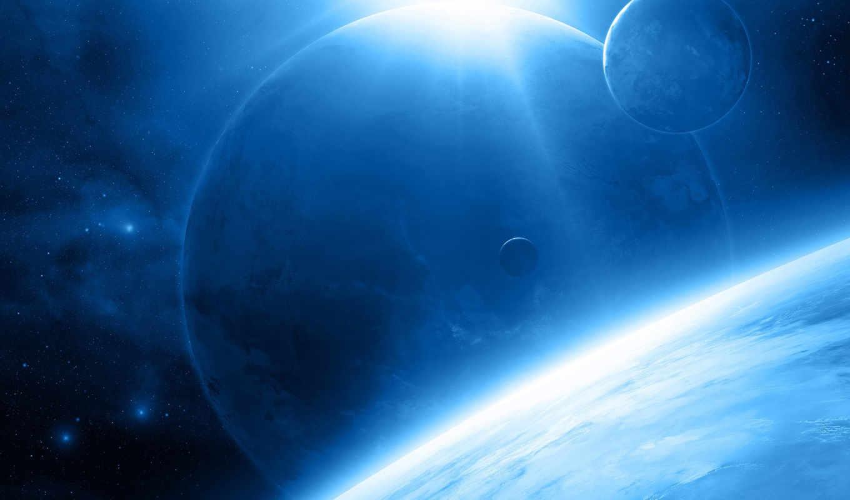 часть, космос, планеты, коллекция, арт, только,