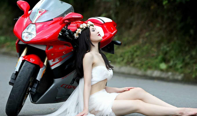 tapety, мотоцикл, мотоциклы, девушка, улица, darmowe, puzzle, które,