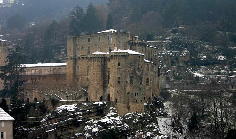 замки, castle, зимние, заставки, часть, зимой, svoya,
