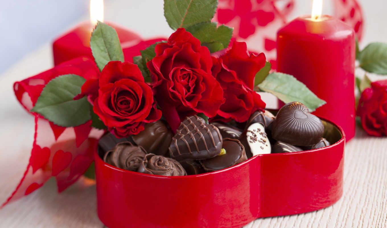 влюбленных, сердце, день, valentine, всех, святого,
