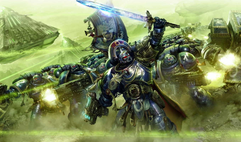 warhammer, обои, битва, монолит, ультрамарины, ult