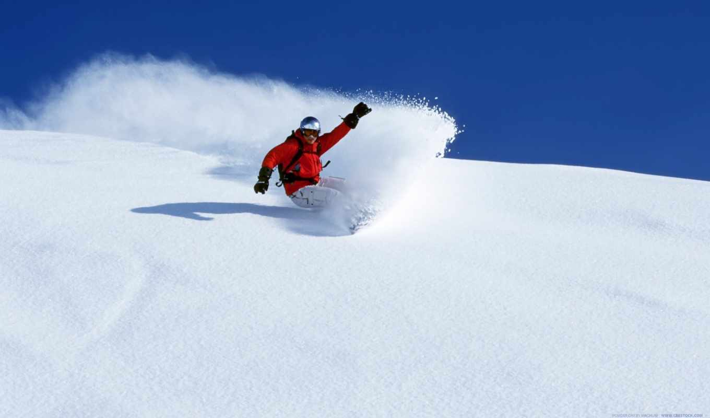 сноуборд, снег, зима,