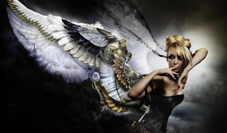 фона, набор, креативных, art, michael, kiryanov, wings, photography, графика, красивые, girl,