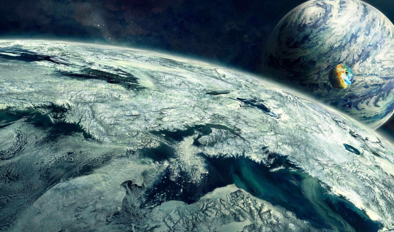 планеты, арт, космос, разрешением,