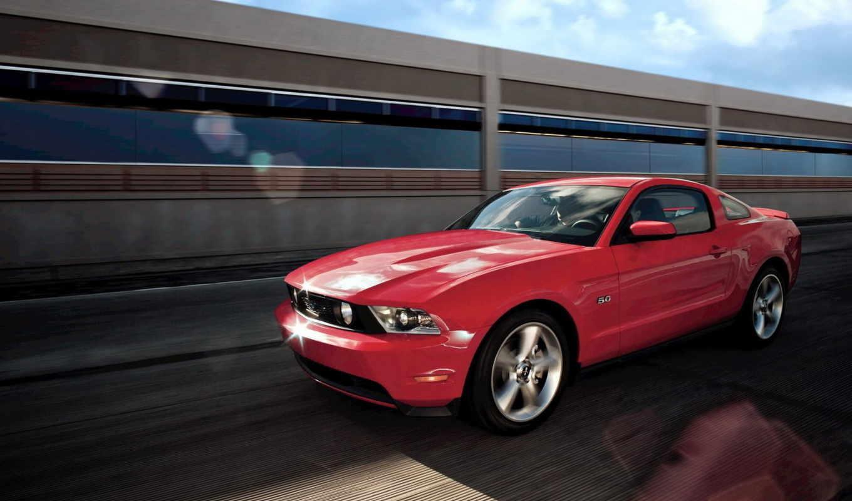 mustang, ford, красный, shelby, فورد, movement, автомобили, скорость,