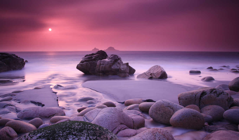 mac, закат, море, скалы,