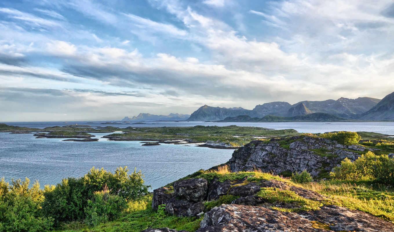 горы, дек, landscape, природа, озеро, небо, oblaka, количество, янв, мб, берег,