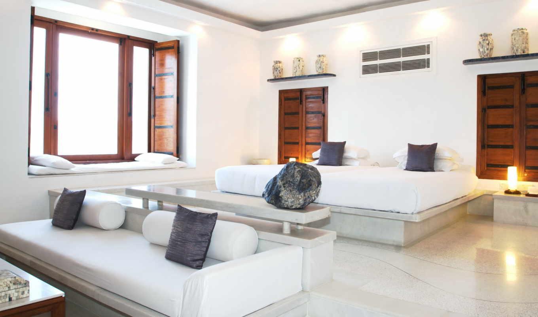 interer, интерьера, you, комната, деревянные, створки, белая,